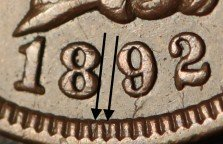 1892 MPD-001 - Indian Head Penny - Photo by Ed Nathanson