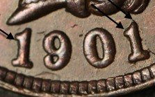 1901 RPD-019 - Indian Head Penny - Photo by Ed Nathanson