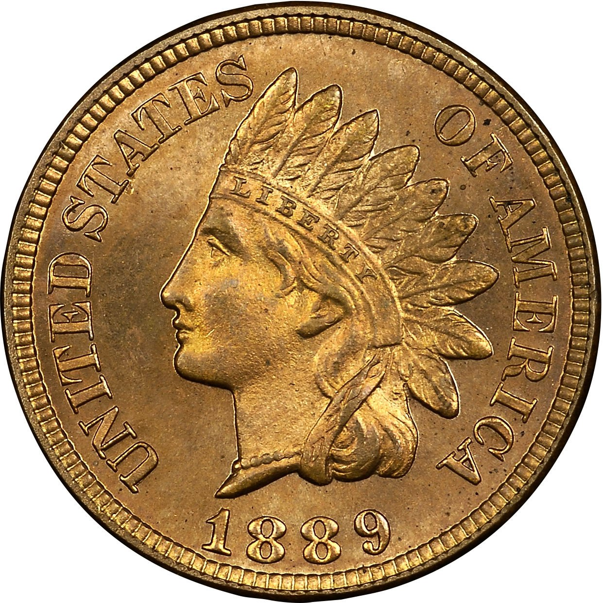 1889 RPD-027 Indian Head Penny - Photos courtesy of Heritage Auctions