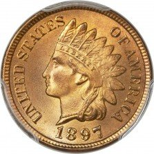 1897 RPD-008 Indian Head Penny - Photos courtesy of Heritage Auctions