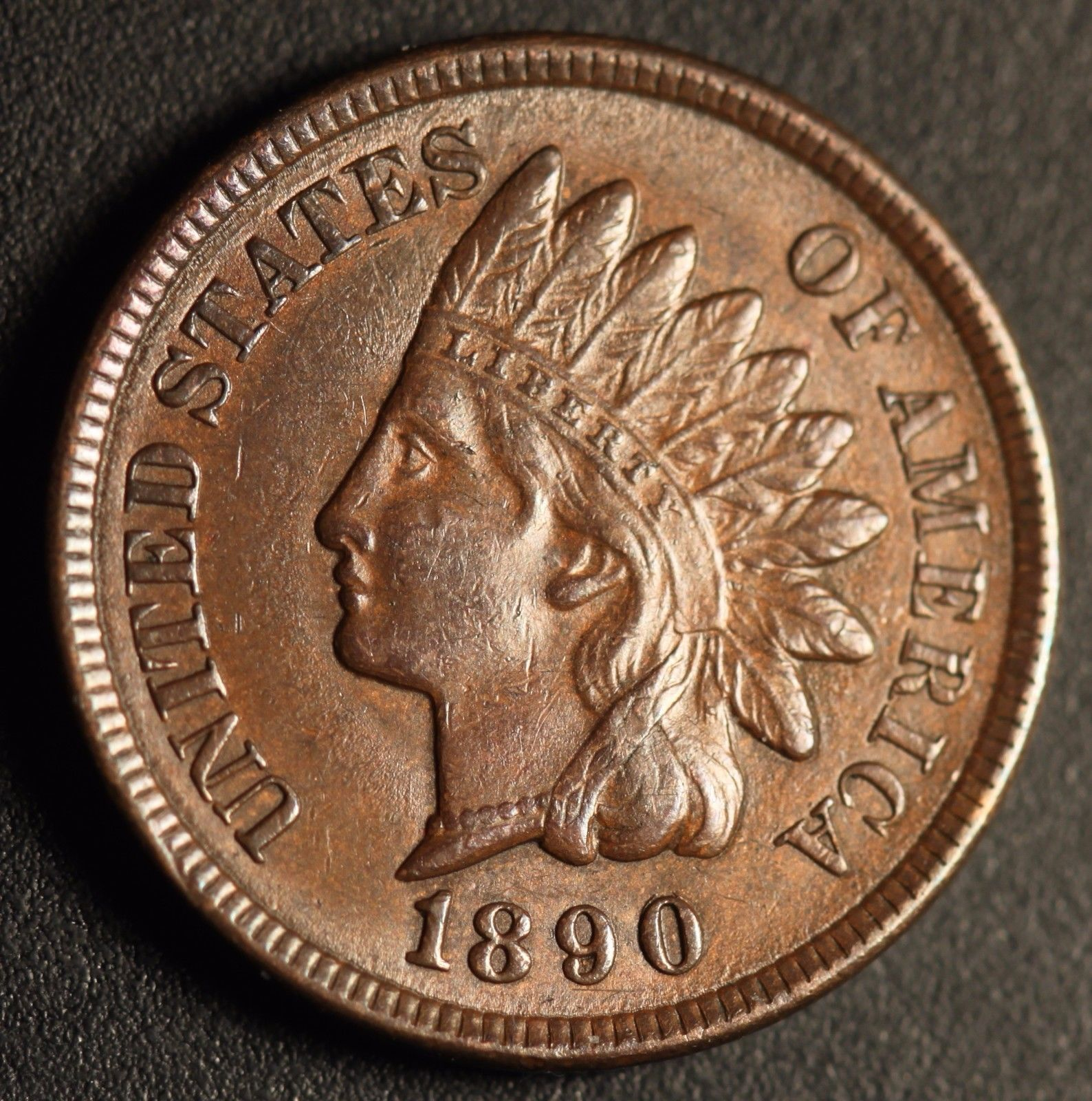 1890 RPD-001 - Indian Head Penny - Photo by Ed Nathanson