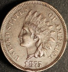 1875 RPD-004 - Indian Head Cent - Photo by Ed Nathanson