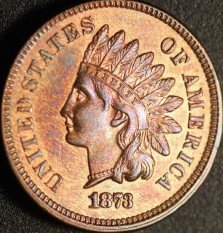 1873 Open 3 RPD-003 - Indian Head Cent - Photo by Ed Nathanson