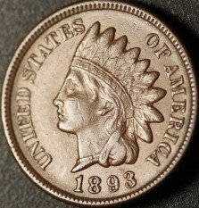 1893 RPD-007 - Indian Head Cent - Photo by Ed Nathanson