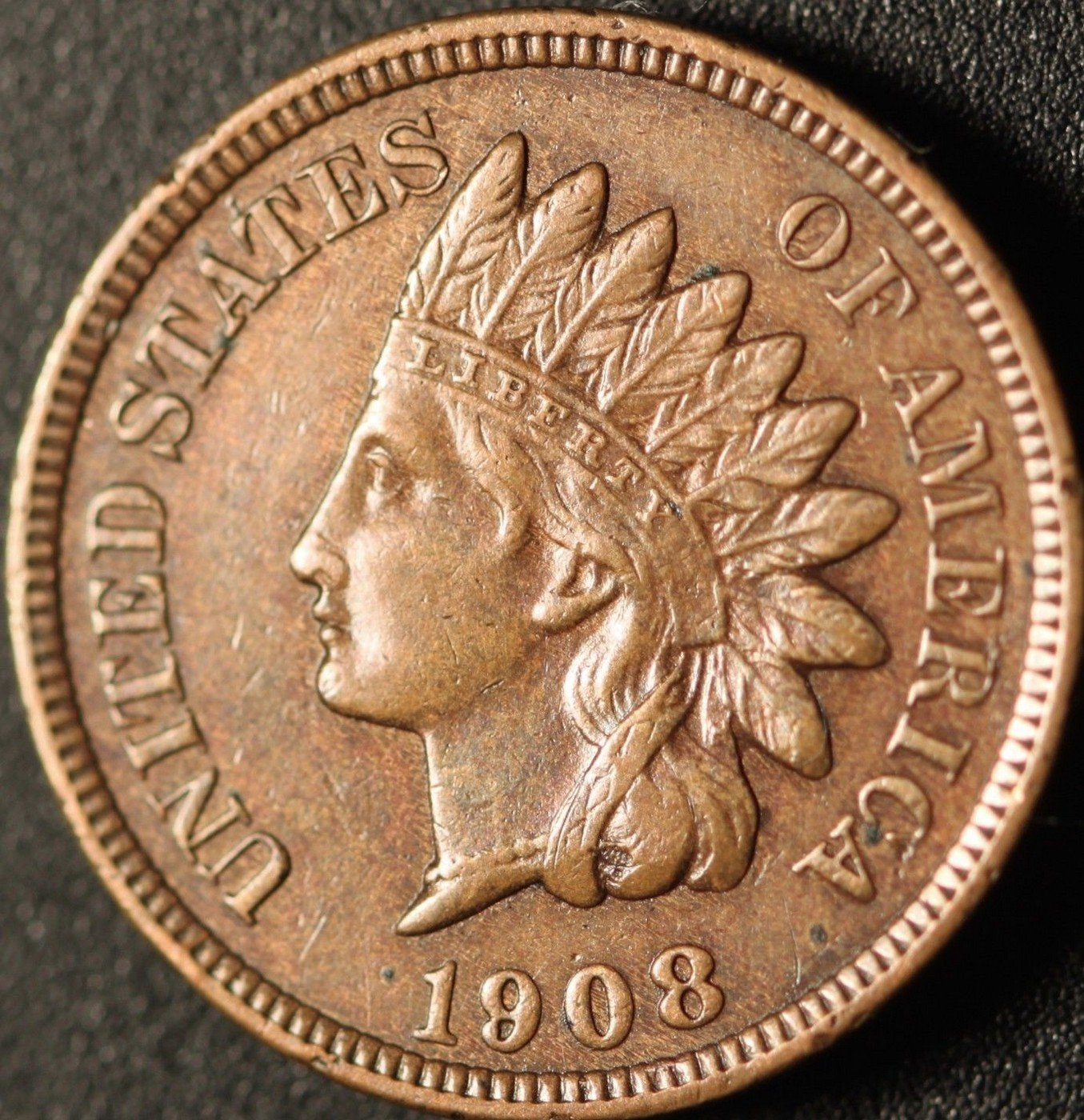 1908 MPD-003 - Indian Head Cent - Photo by Ed Nathanson