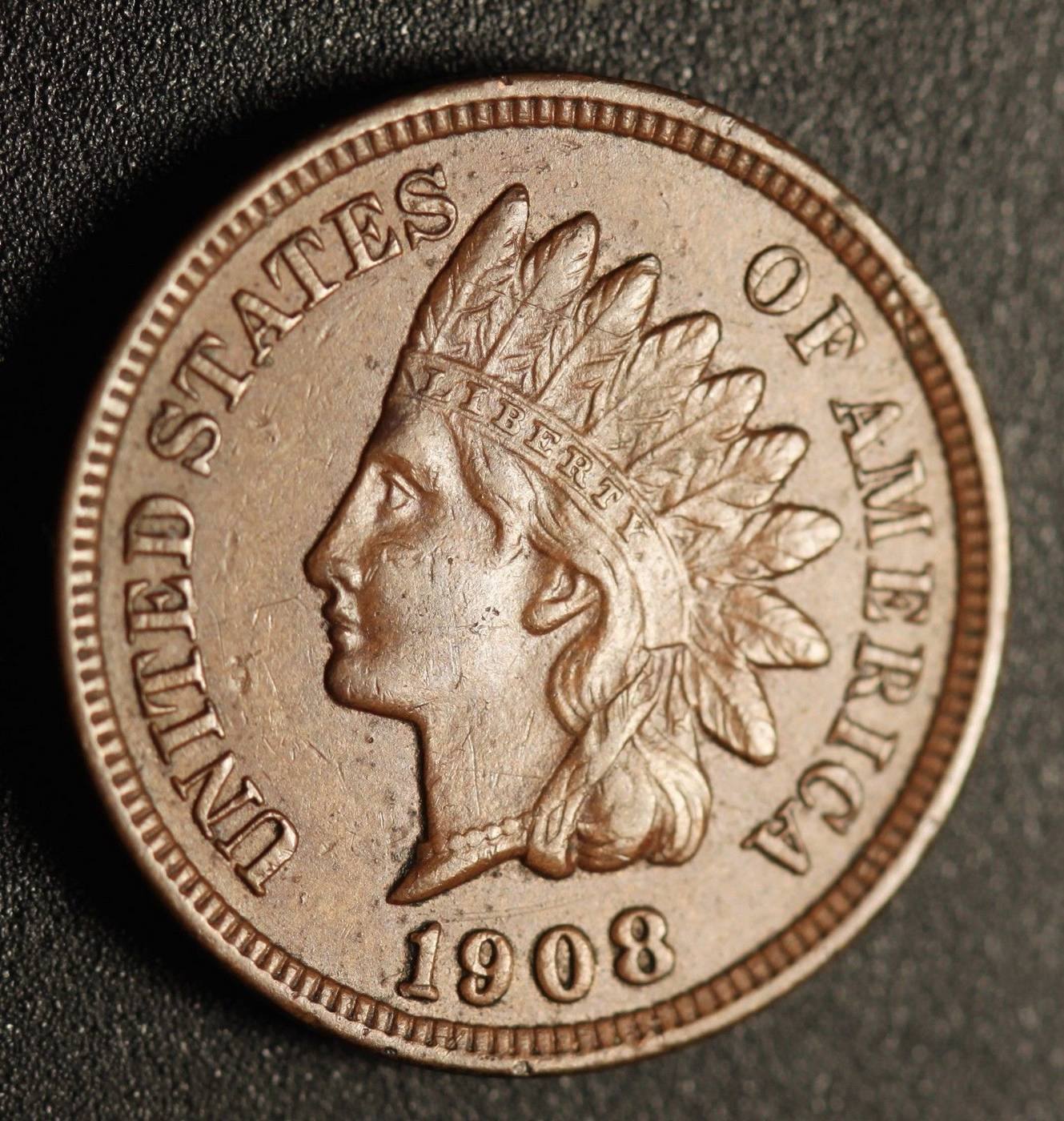 1908 RPD-017 - Indian Head Penny - Photo by Ed Nathanson