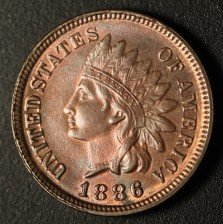 1886 RPD-006 - Indian Head Penny - Photo by Ed Nathanson