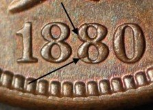 1880 PUN-003 - Indian Head Penny - Photo by Ed Nathanson