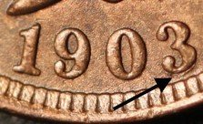 1903 RPD-004 - Indian Head Penny - Photo by Ed Nathanson