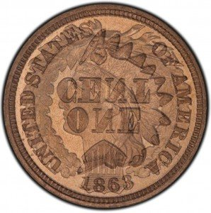1863 Indian Head Penny Overlay - Obverse