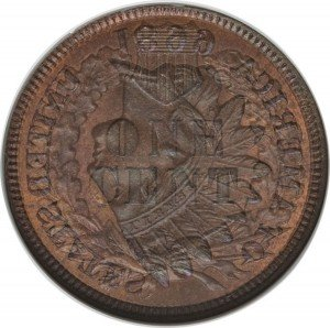1899 Indian Head Penny Reverse Overlay - Photos courtesy of Heritage Auctions