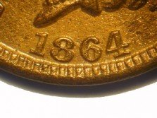 1864 No-L RPD-009 - Indian Head Penny - Photo by David Poliquin