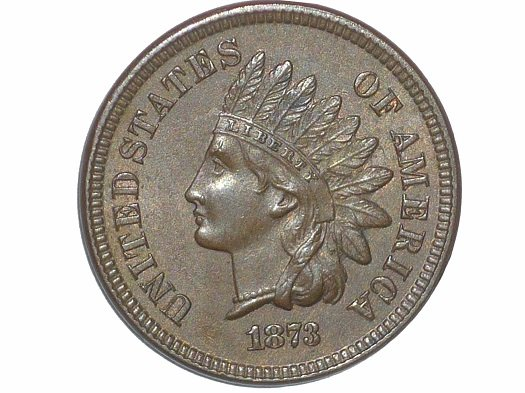 1873 Obverse of ODD-003 - Indian Head Penny - Photo by David Poliquin