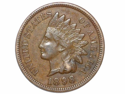 1898 Obverse of RST-001 - Indian Head Penny - Photo by David Poliquin