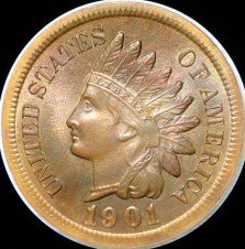 1901 CRK-001 - Indian Head Penny