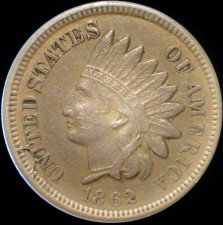 1862 CUD-011 - Indian Head Penny