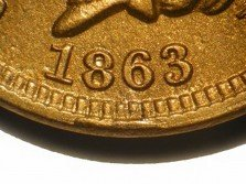 1863 RPD-014 - Indian Head Penny - Photo by David Poliquin