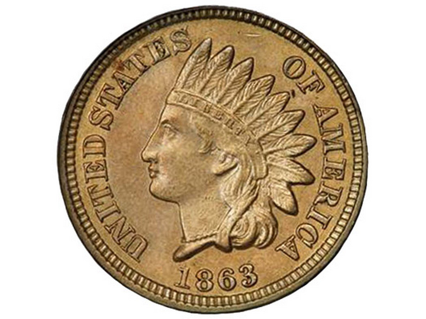 1863 Obverse of CUD-023 - Indian Head Penny - Photo by Todd Pollock of BluCCPhotos.com