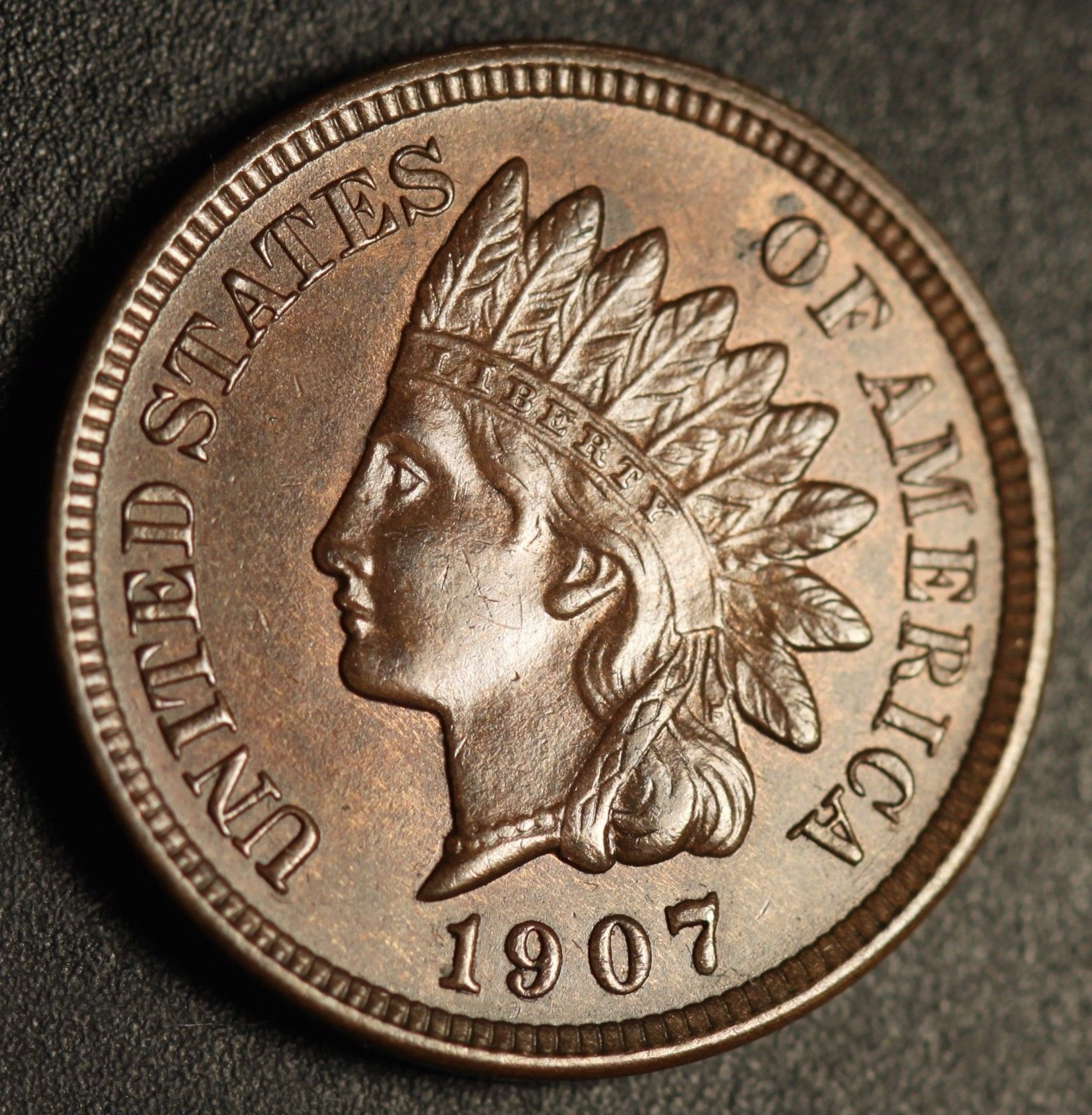 1907 RPD-055 - Indian Head Penny - Photo by Ed Nathanson