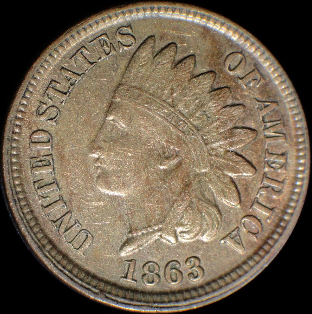 1863 Obverse of CRK-001 - Indian Head Penny