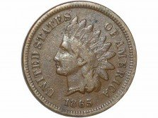 1865 Fancy 5 ODD-001 - Indian Head Penny - Photo by David Poliquin