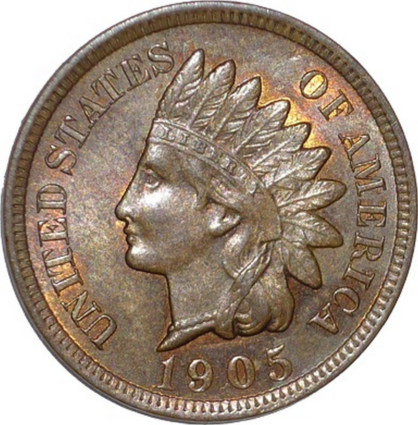1905 RPD-020 - Indian Head Penny - Photo by David Poliquin