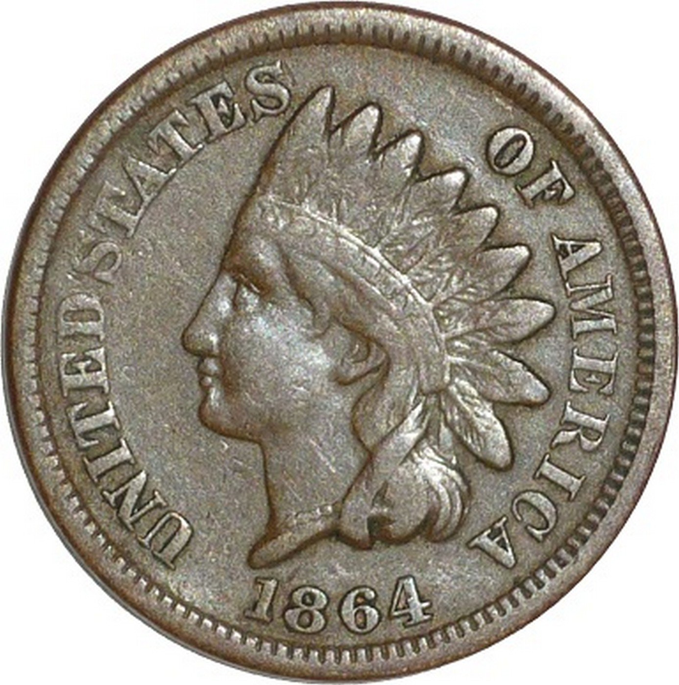1864 No-L ROT-001 - Indian Head Penny - Photo by David Poliquin