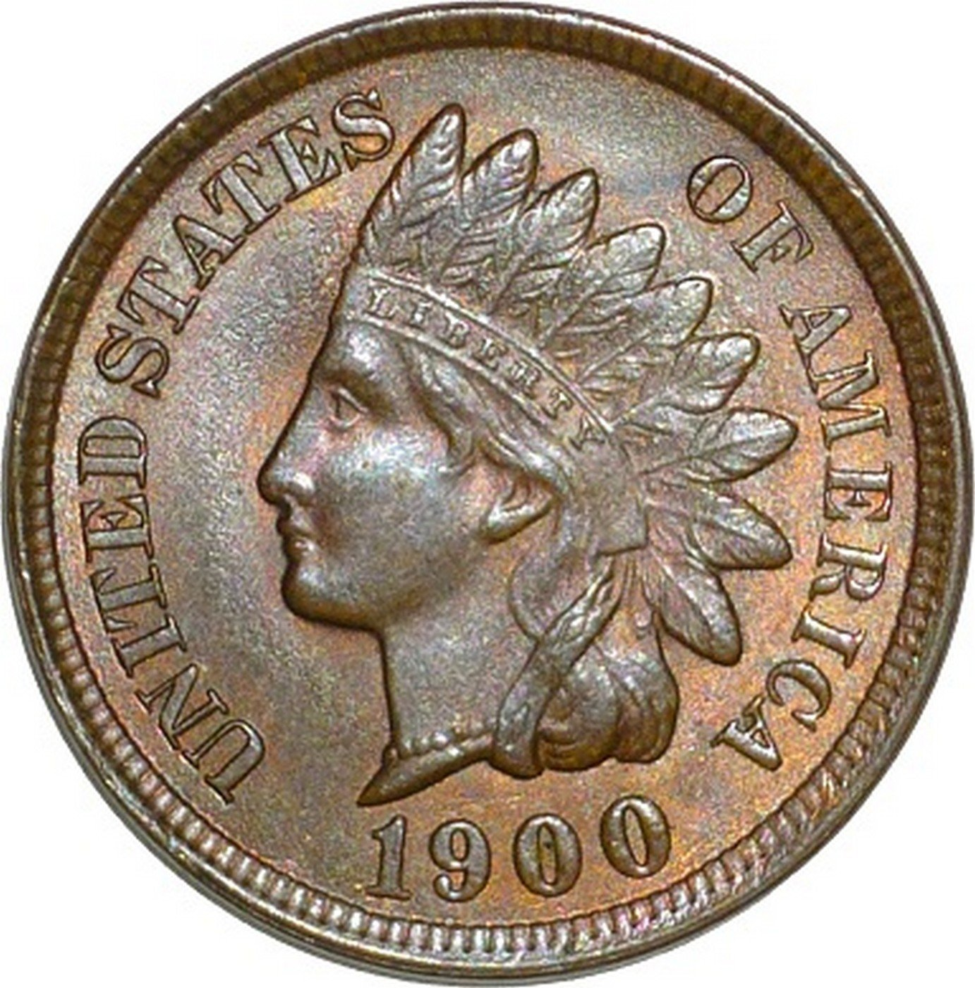 1900 RPD-027 - Indian Head Cent - Photo by David Poliquin