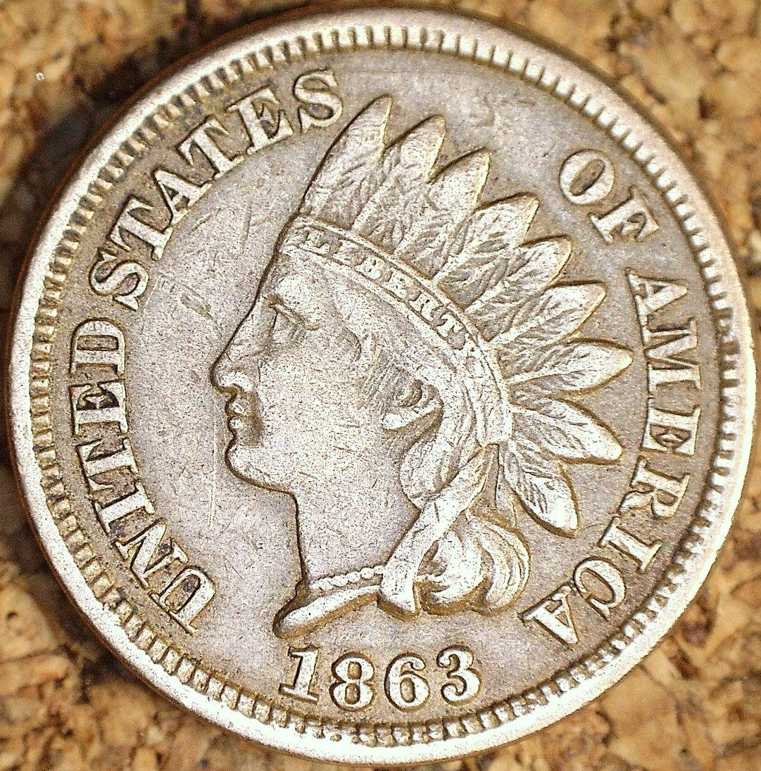1863 ODD-010 - Indian Head Penny - Photo by David Killough
