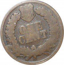 1866 CUD-006 - Indian Head Penny - Photo by David Poliquin