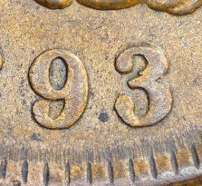 1893 RPD-020 - Indian Head Penny - Photo by David Killough