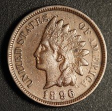 1896 RPD-021 - Indian Head Penny - Photo by Ed Nathanson
