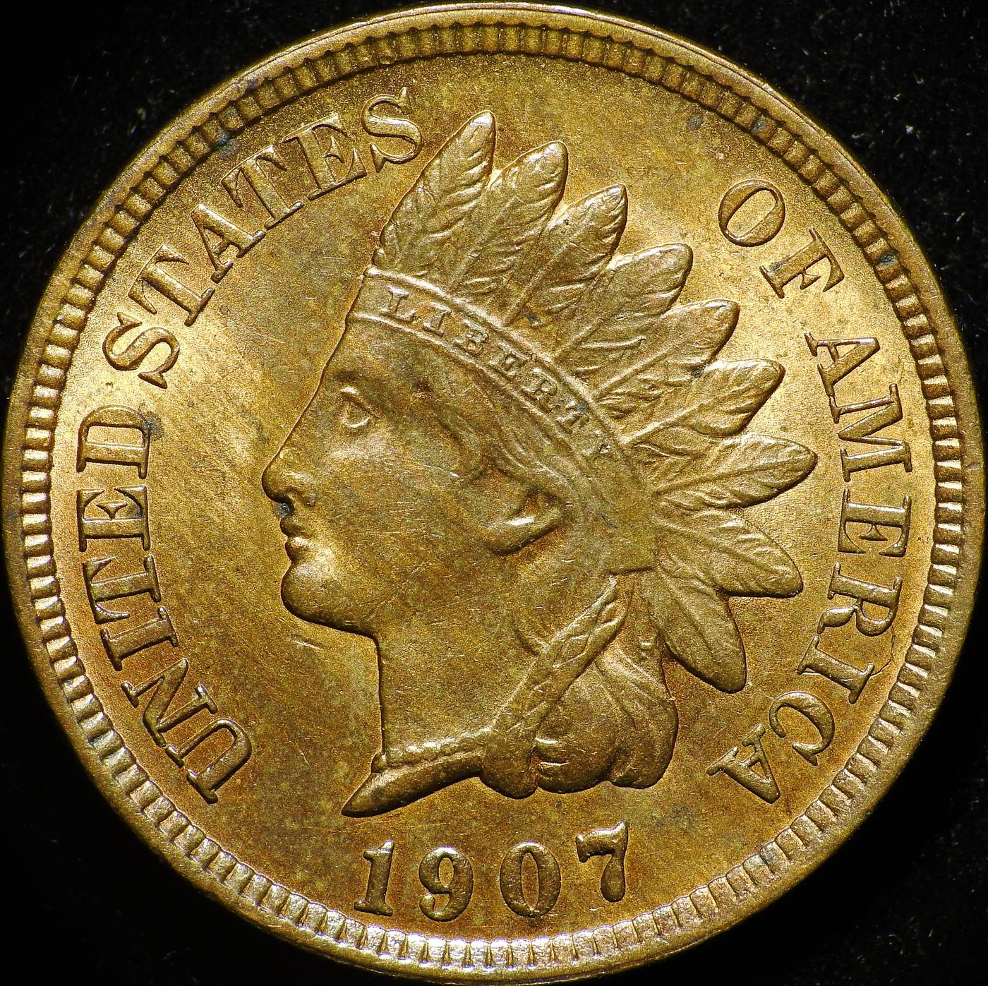 1907 Obverse of RST-003 - Indian Head Penny