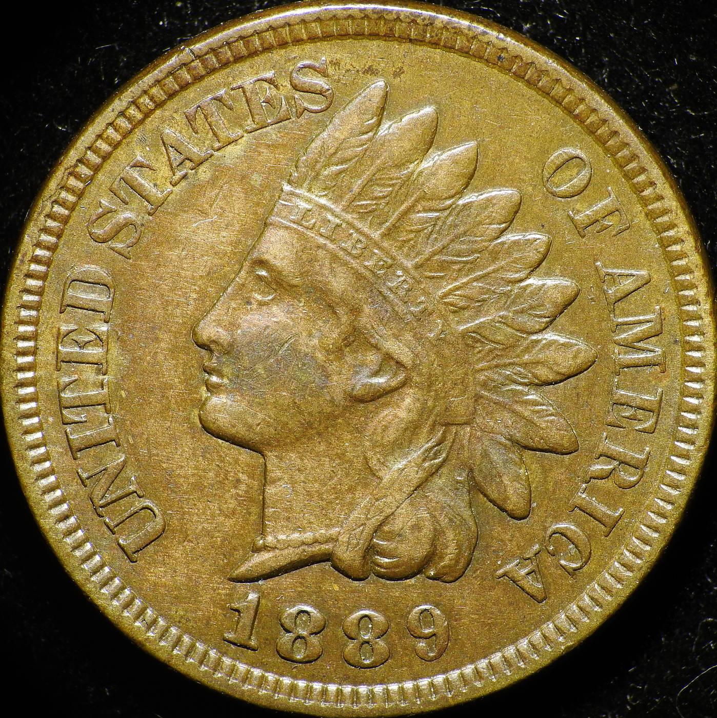 1889 Obverse of CUD-003 - Indian Head Penny