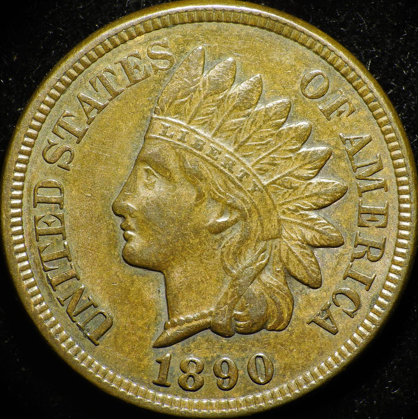 1890 Obverse of CUD-002 - Indian Head Penny