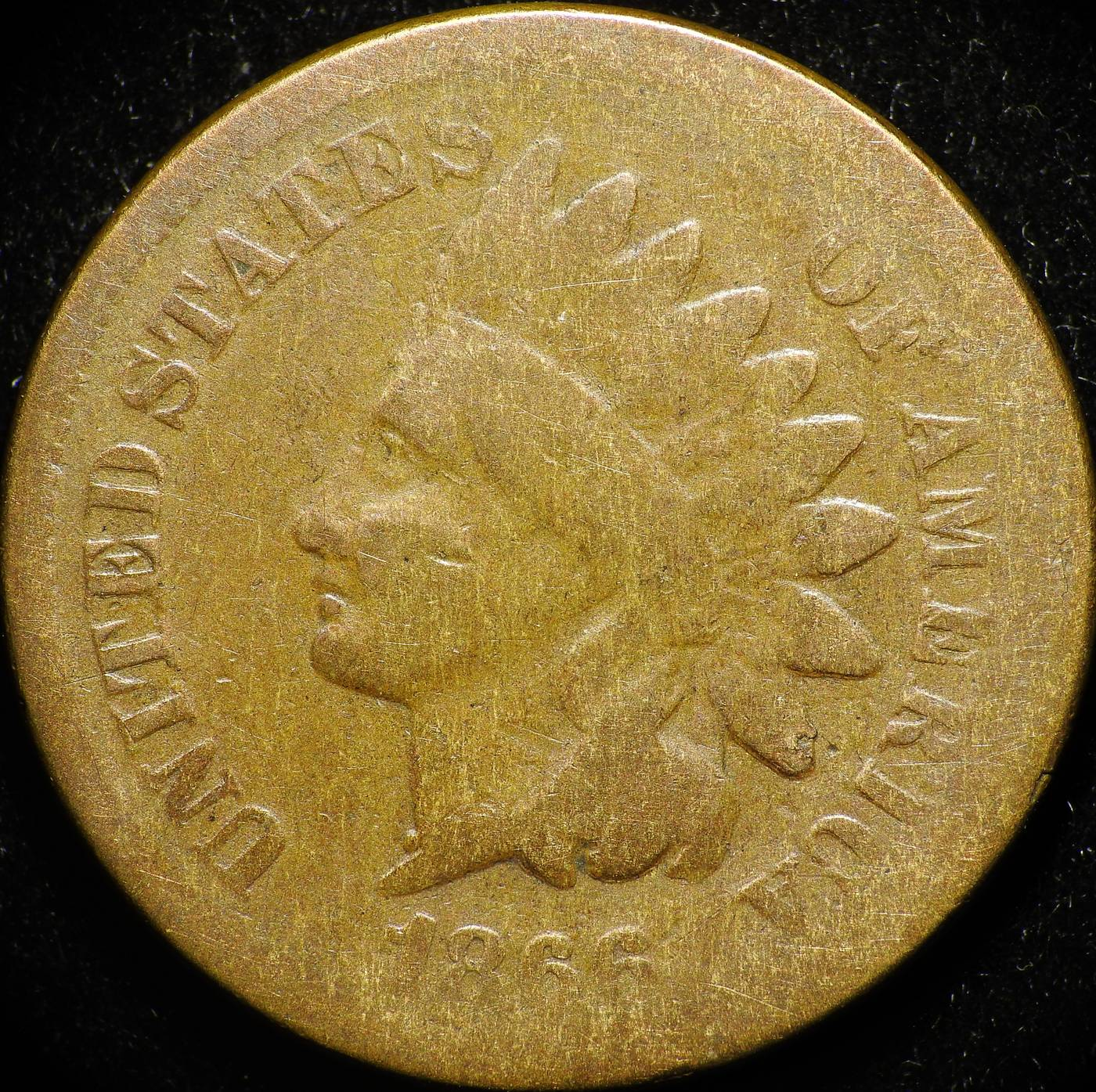 1866 Obverse of ODD-001 - Indian Head Penny