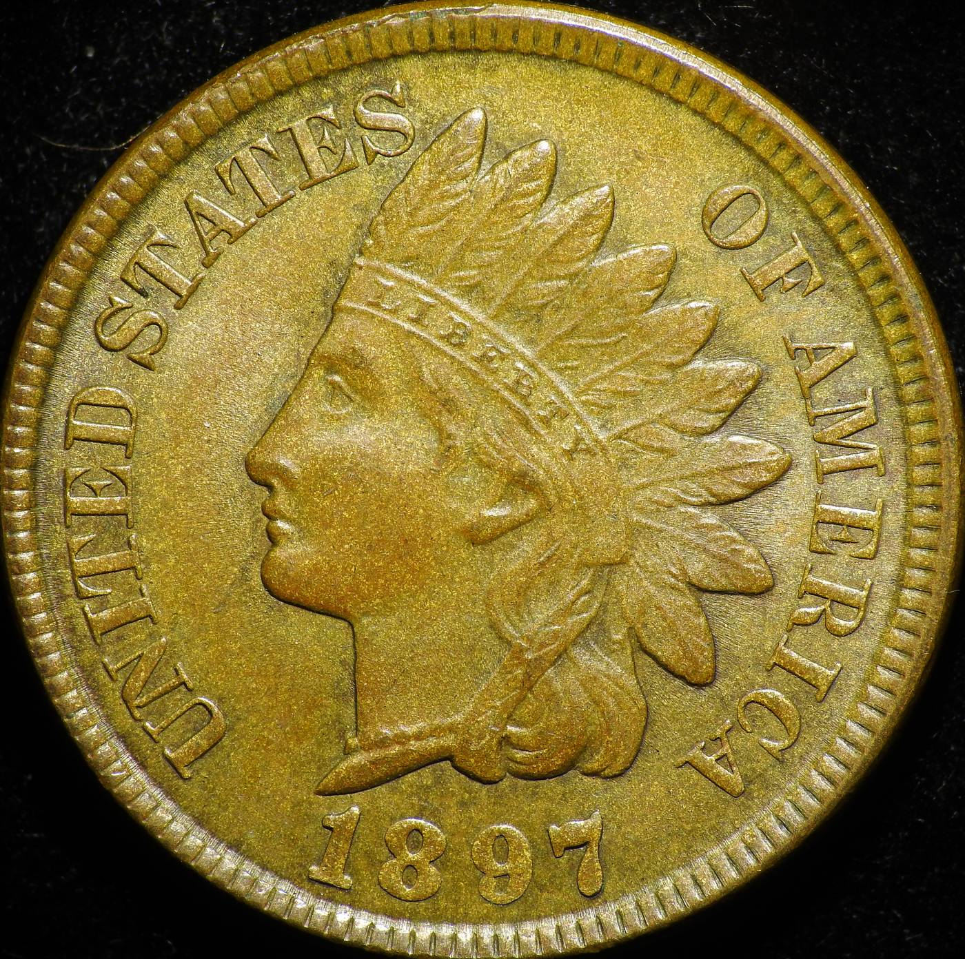 1897 Obverse of ODD-001 - Indian Head Penny