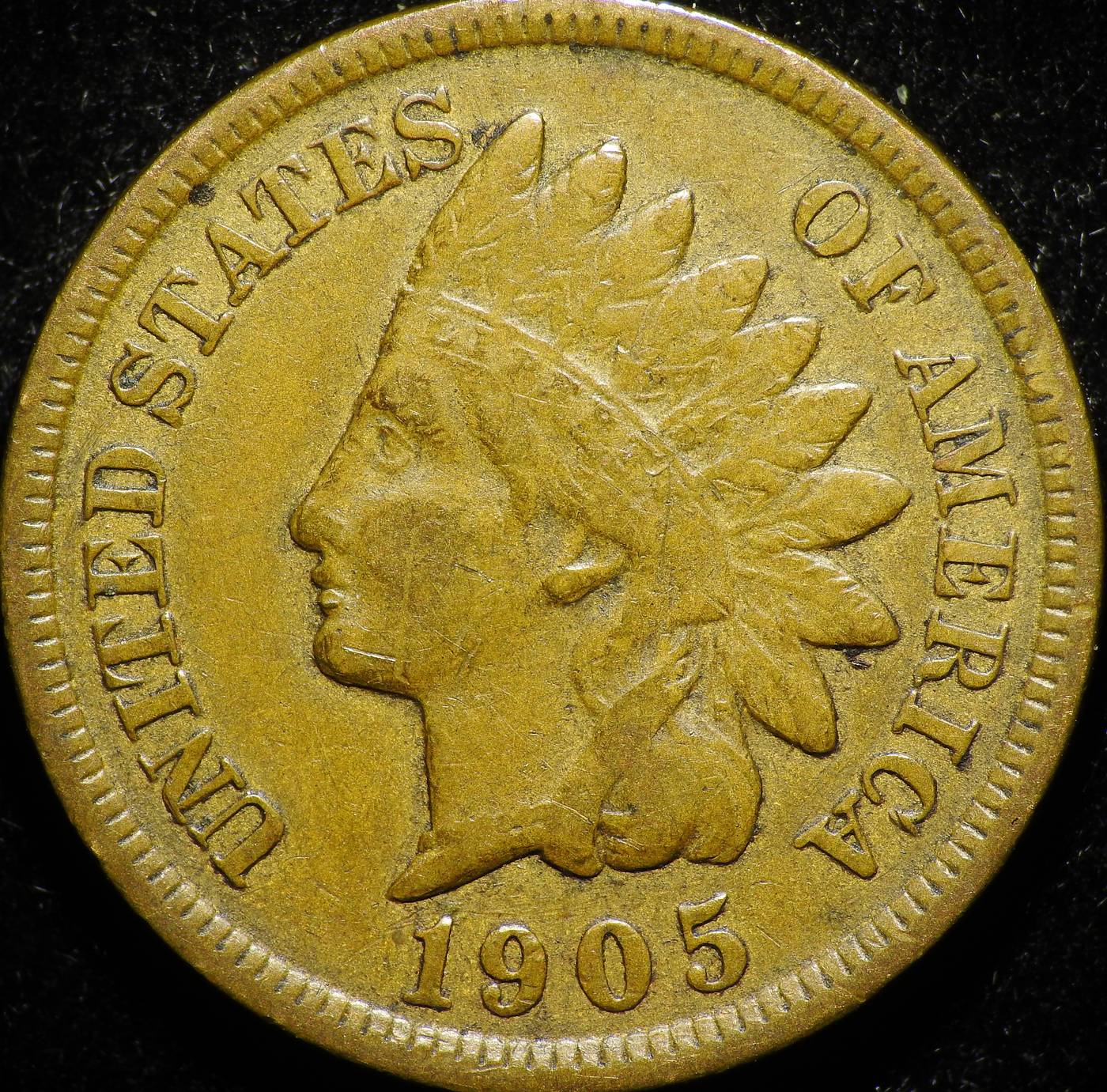 1905 Obverse of CUD-006 - Indian Head Penny
