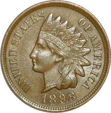 1898 RPD-032 - Indian Head Penny - Photo by David Poliquin