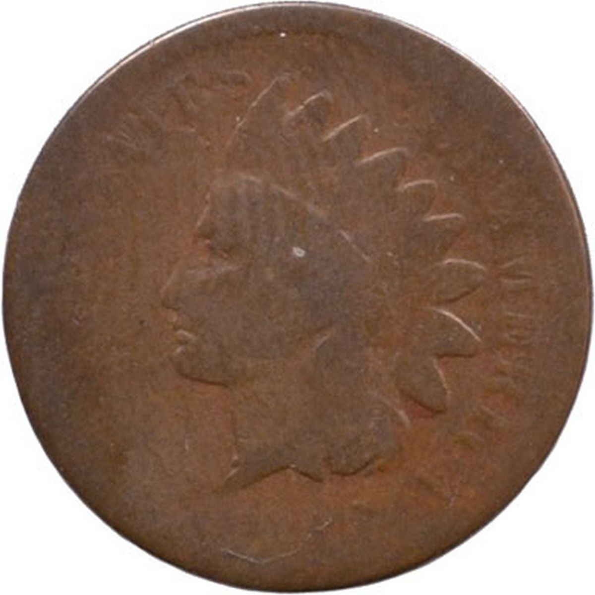 Obverse of 1868 CUD-005 - Indian Head Penny - Photo by David Poliquin
