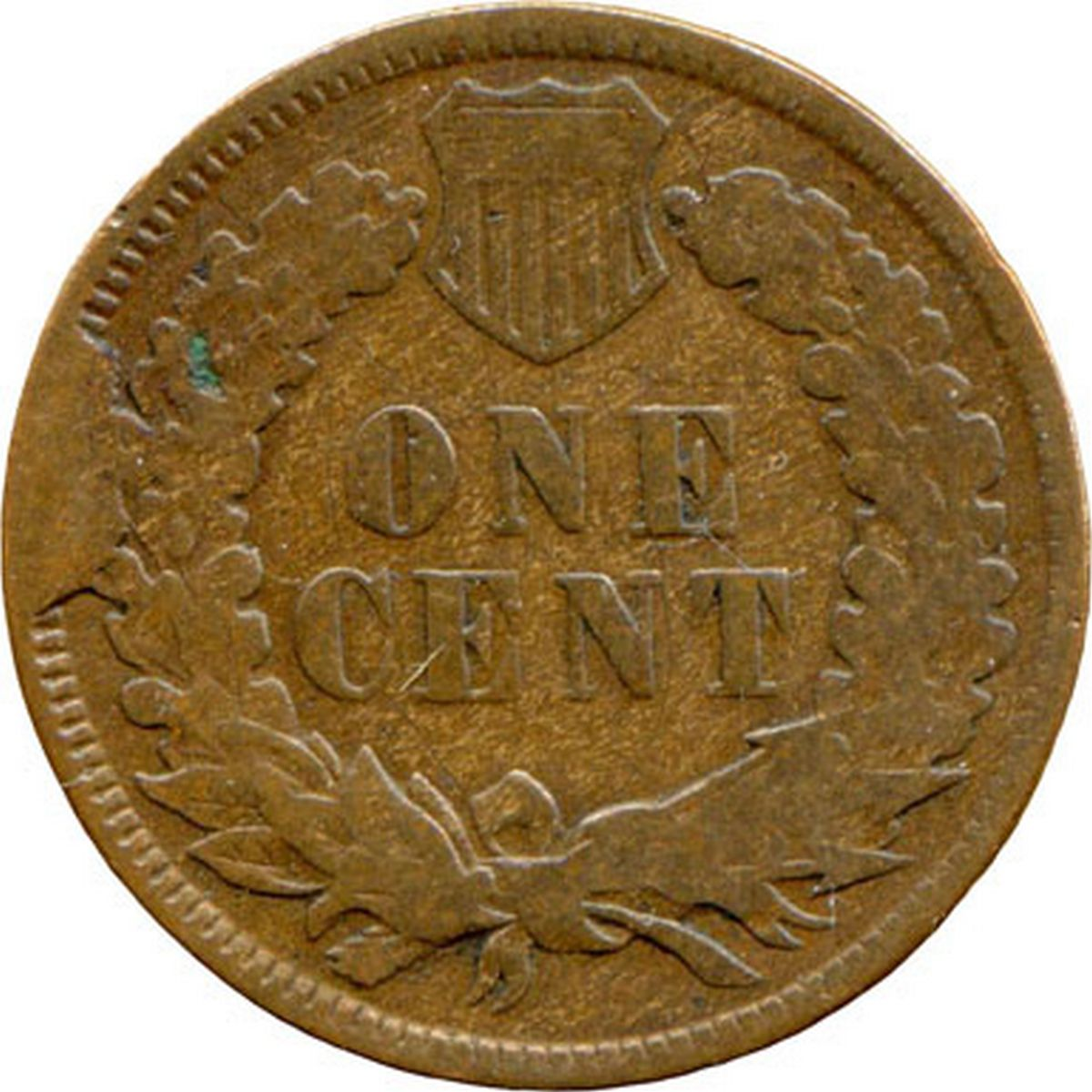 1874 CUD-003 - Indian Head Penny - Photo by David Poliquin