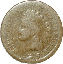 1875 CUD-003 - Indian Head Penny - Photo by David Poliquin