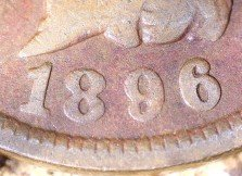 1896 RPD-028 - Indian Head Penny - Photo by David Killough